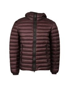 CP Company Mens Red Down Hooded Goggle Puffer Jacket