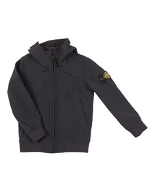 Stone Island Junior  Boys Blue Soft Shell Jacket