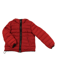 CP Company Undersixteen Boys Red Down Goggle Puffer Jacket