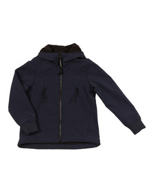 CP Company Undersixteen Boys Blue Soft Shell Goggle Hooded Jacket