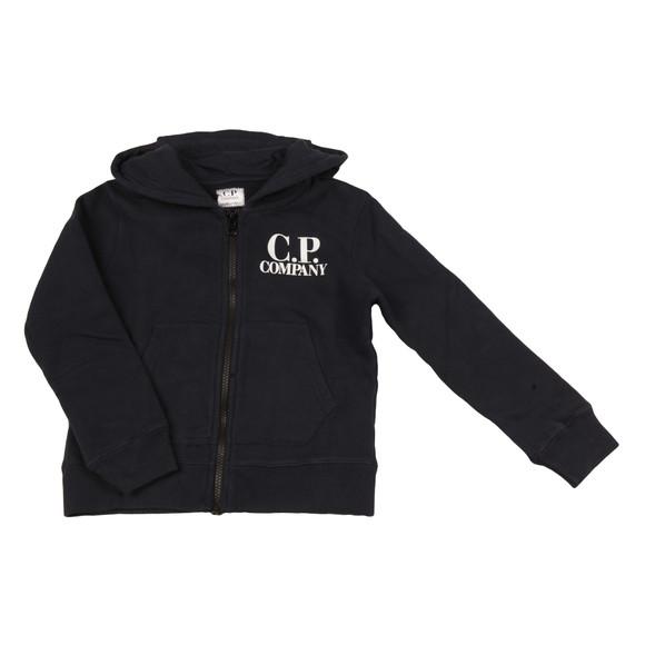 CP Company Undersixteen Boys Blue Full Zip Goggle Hoody main image