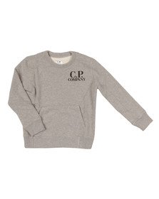 CP Company Undersixteen Boys Grey Printed Goggle Sweatshirt