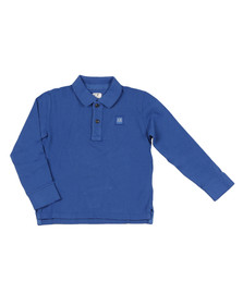 CP Company Undersixteen Boys Blue Square Logo Polo Shirt