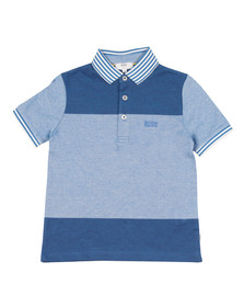 Boss Boys Blue Boys Multi Tipped Polo Shirt