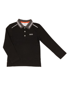 Boss Boys Black Long Sleeve Polo Shirt