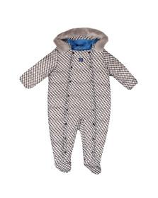 Armani Baby Boys Blue Snowsuit
