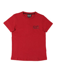 EA7 Emporio Armani Boys Red Small  Logo T Shirt