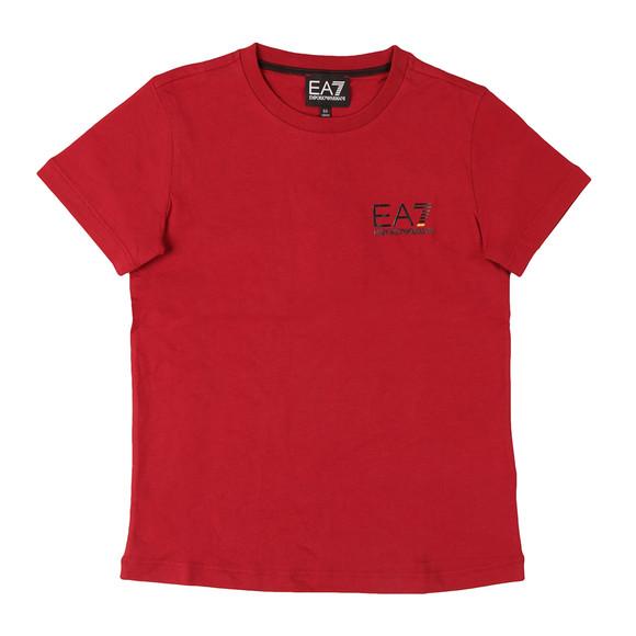 EA7 Emporio Armani Boys Red Small  Logo T Shirt main image