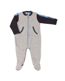 Armani Baby Boys Grey Full Zip Jersey All In One