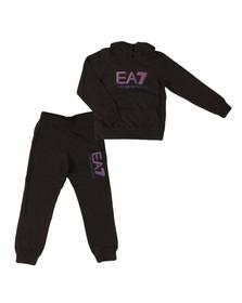 EA7 Emporio Armani Boys Black Overhead Tracksuit