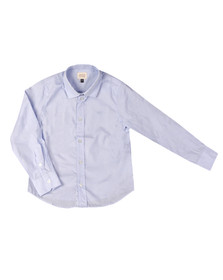 Armani Junior  Boys Blue Detailed Collar Shirt