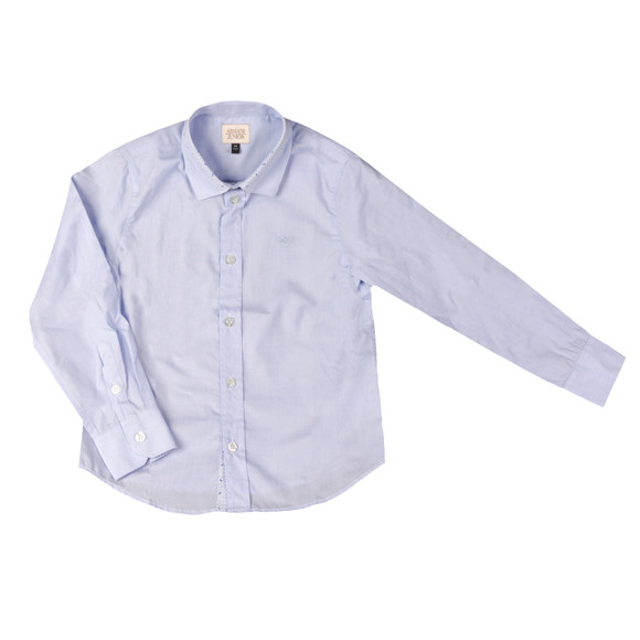 Armani Junior  Boys Blue Detailed Collar Shirt main image