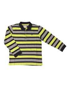 Armani Junior  Boys Grey Multi Stripe Polo Shirt