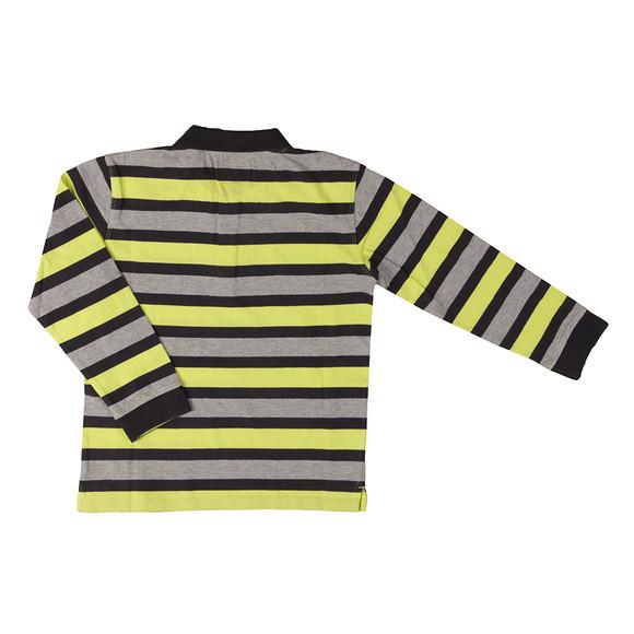 Armani Junior  Boys Grey Multi Stripe Polo Shirt main image
