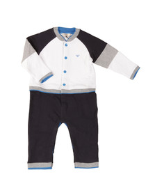 Armani Baby Boys White Jersey All In One