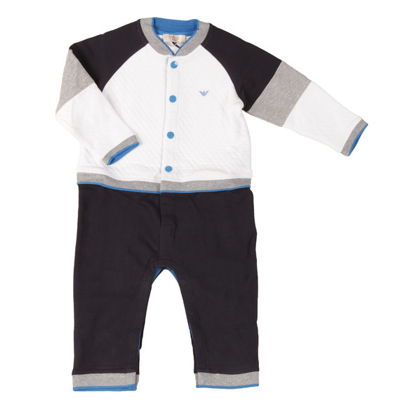 Armani Baby Boys White Jersey All In One main image