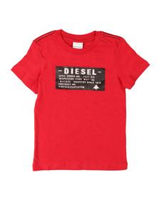 Diesel Boys Red Taggi Slim T Shirt