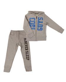 Diesel Boys Grey Large Logo Track Suit