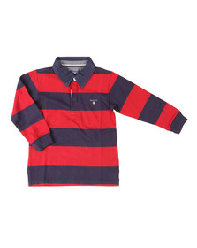 Gant Boys Red Barstripe Heavy Rugger
