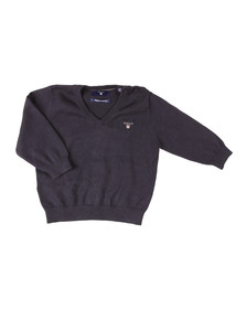Gant Boys Blue Baby Light Weight Cotton V Neck Jumper