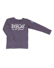 Replay Boys Blue Boys SB7054 Logo T Shirt