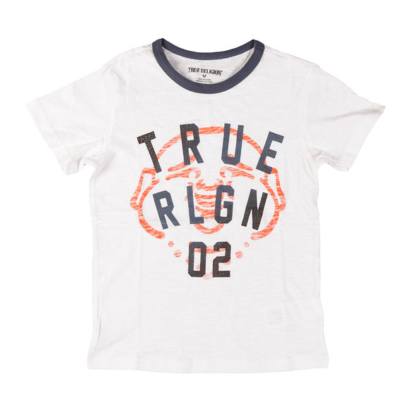 True Religion Boys White True Buddha T Shirt