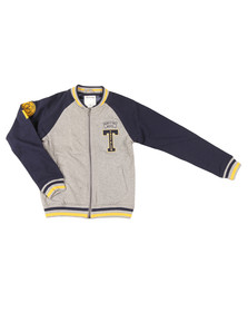 True Religion Boys Grey Letterman Jacket