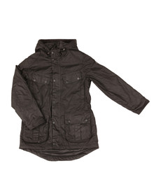 Barbour International Boys Black Boys Storm Parka Jacket