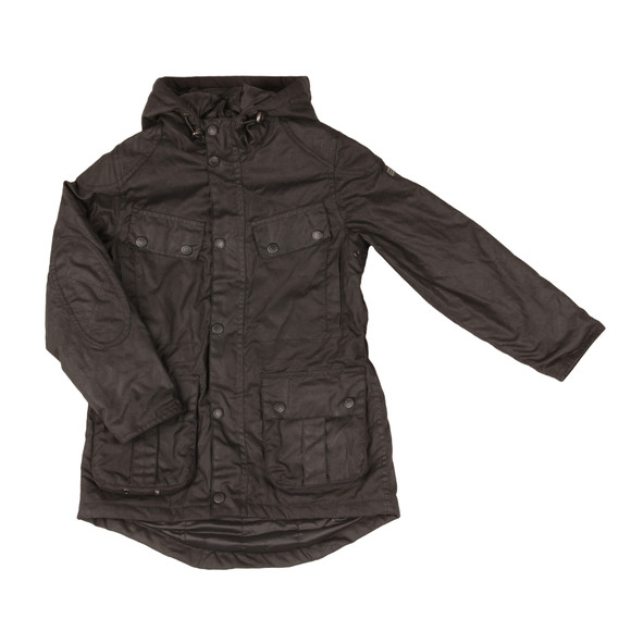Barbour International Boys Black Boys Storm Parka Jacket  main image