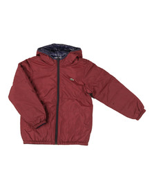 Lacoste Boys Red BJ9704 Reversible Jacket