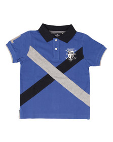 Hackett Boys Blue Cross Panel Polo Shirt