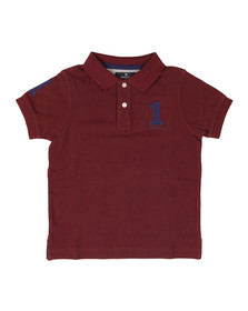 Hackett Boys Red Boys New Classic Number Polo Shirt
