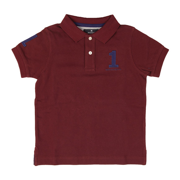Hackett Boys Red Boys New Classic Number Polo Shirt main image