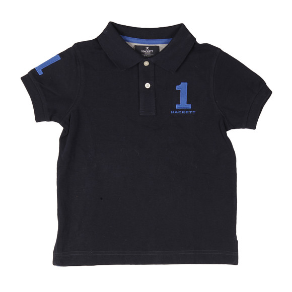 Hackett Boys Blue Boys New Classic Number Polo Shirt main image