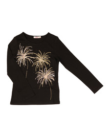 Billieblush Girls Black U15357 Fireworks T Shirt