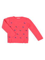 Girls Embroidered Dog Jumper