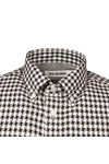 Ben Sherman Mens Black Dogstooth Gingham Shirt