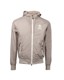 Franklin & Marshall Mens Grey Lightweight Hooded Jacket