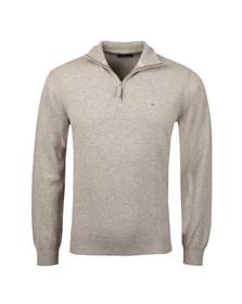 Gant Mens Grey 1/2 Zip Jumper