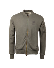Franklin & Marshall Mens Brown Full Zip Bomber Sweat