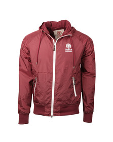 Franklin & Marshall Mens Red Lightweight Hooded Jacket