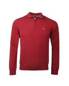 Gant Mens Red 1/2 Zip Jumper
