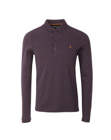 Farah Mens Red Merriweather L/S Polo Shirt