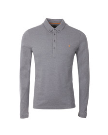 Farah Mens Beige Merriweath L/S Polo Shirt
