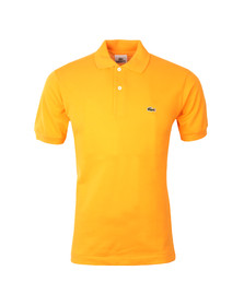 Lacoste Mens Orange L1212 Tangerine Plain Polo Shirt