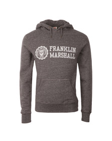 Franklin & Marshall Mens Grey Large Logo Overhead Hoody