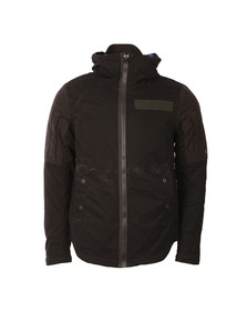 G-Star Mens Black Batt Hooded Overshirt