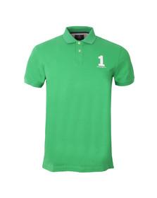 Hackett Mens Green New Classic S/S Polo Shirt