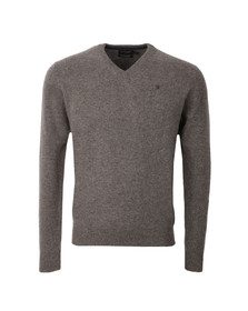 Hackett Mens Grey V Neck Jumper