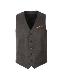 Scotch & Soda Mens Grey Herringbone Waist Coat